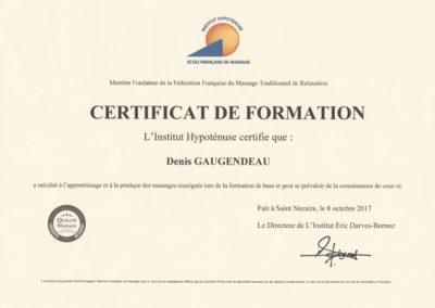 Certificat de formation institut hypoténuse