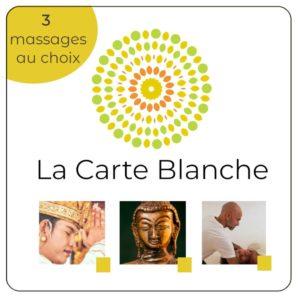 Carte pour 3 massages au choix